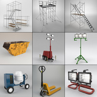 set industrial 3d max