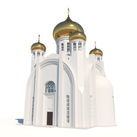 3d orthodox cathedral architecture model