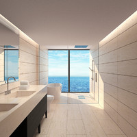 bathroom realistic 3d model