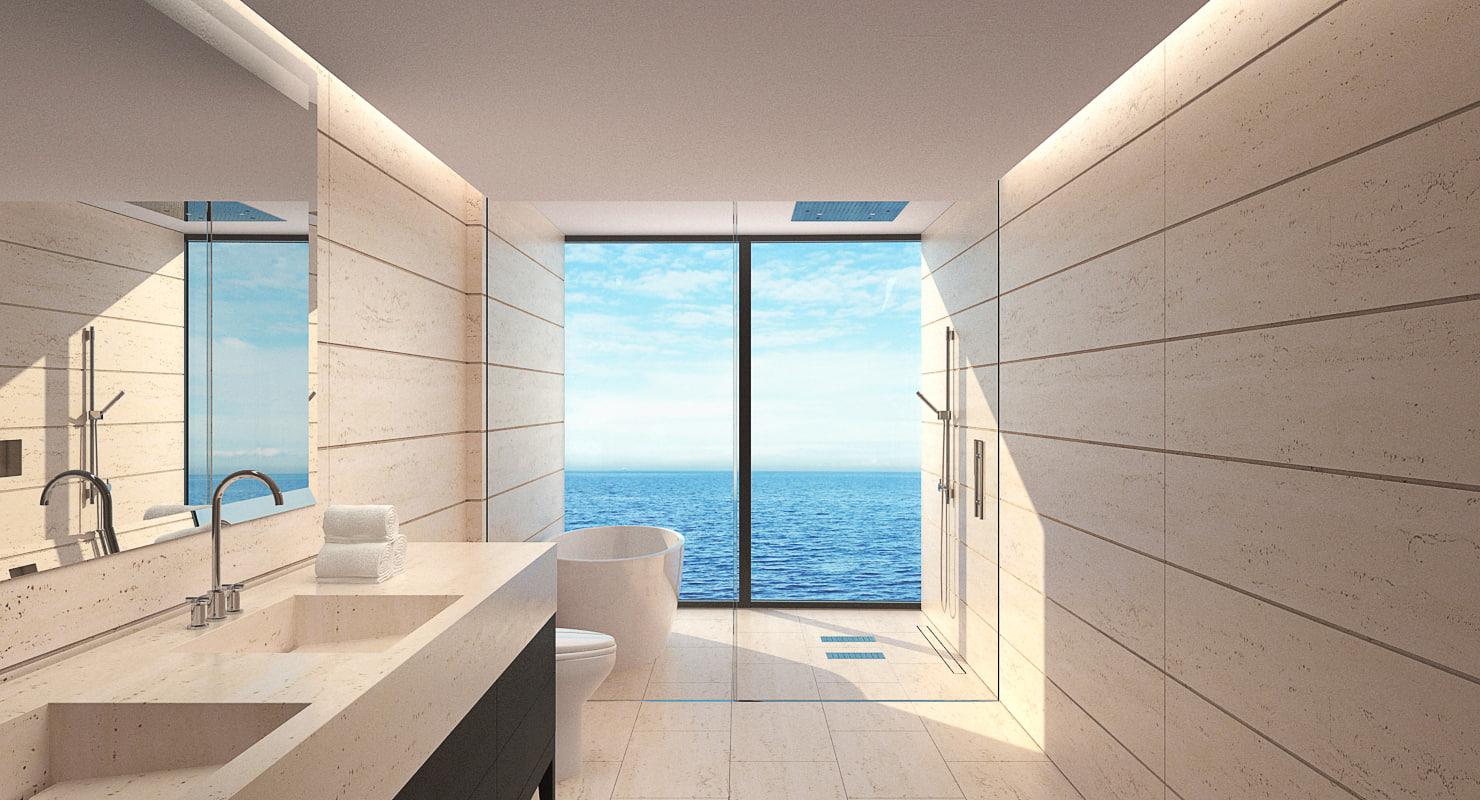 bathroom realistic 3d model