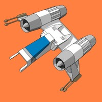 Cel Shaded Space Fighter