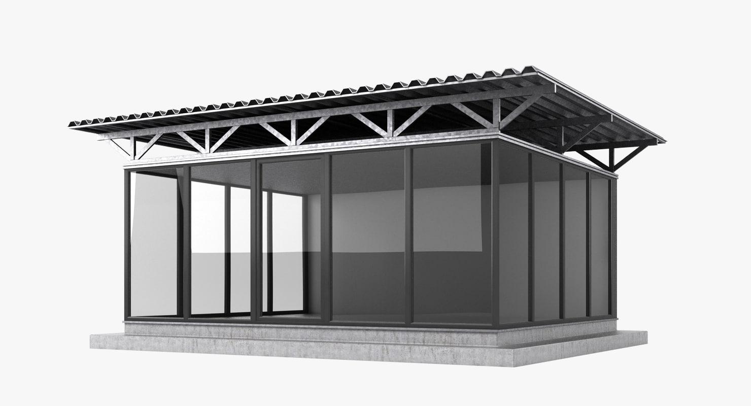 3d pavilion realistic model