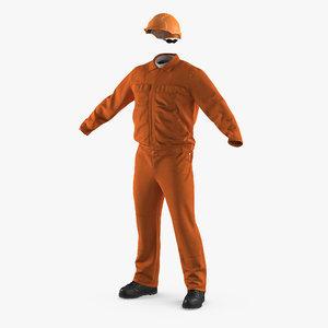 3d factory work wear overalls