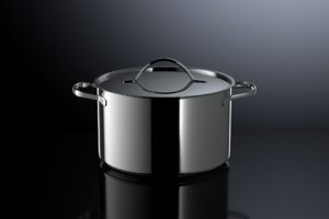 3d model brushed cooking photorealistic