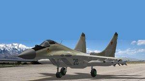 mikoyan fulcrum fighter 3d model