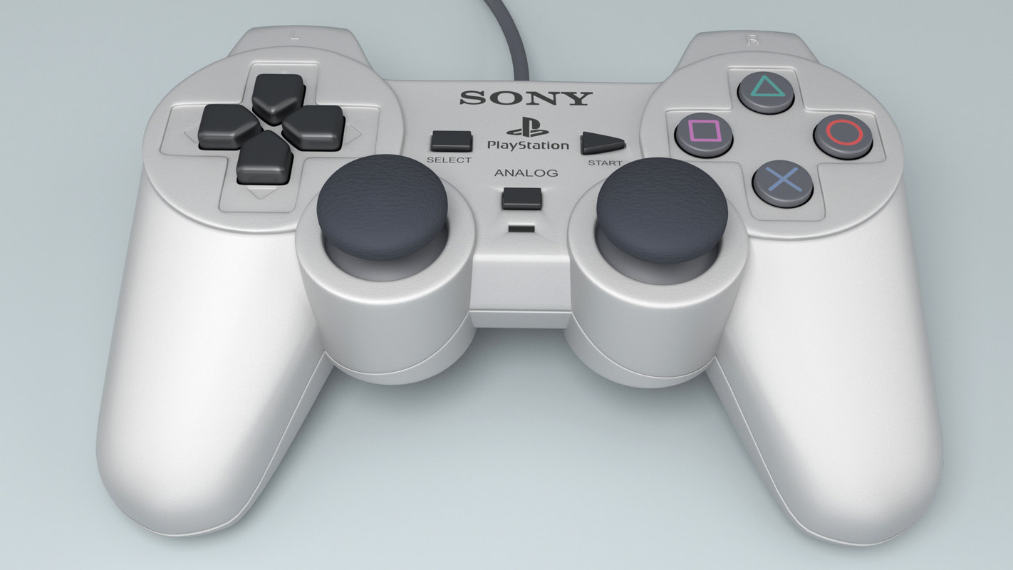 controller playstation 3d model