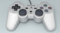controller playstation 3d model