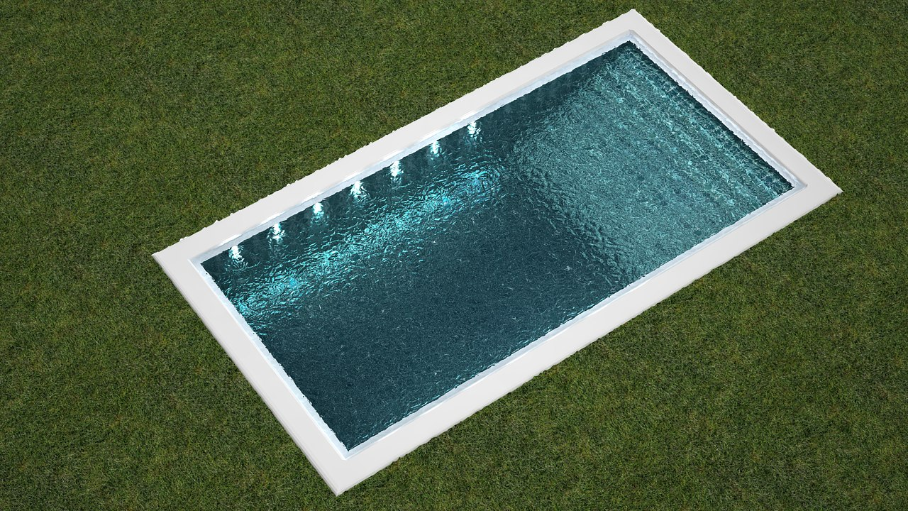 3d model outdoor medium size pool