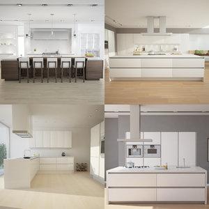 3d model kitchen scenes