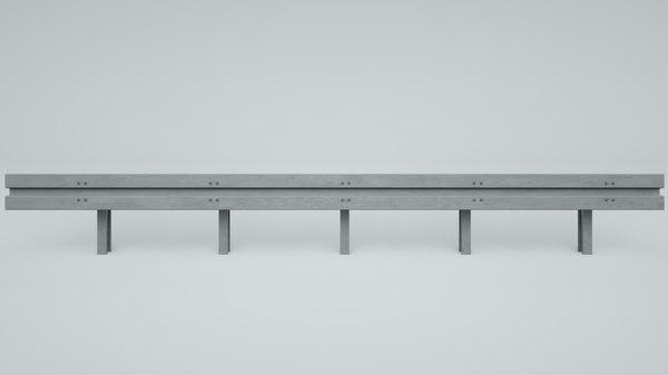 guard rail 3d obj