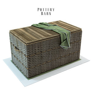 pottery barn woven trunk 3d 3ds