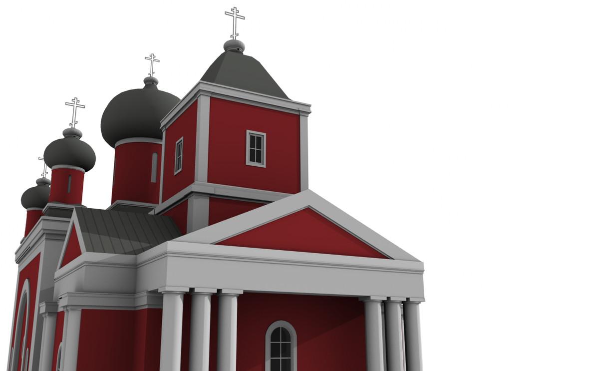 russian church 3d obj