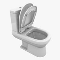 modern toilet 3d max