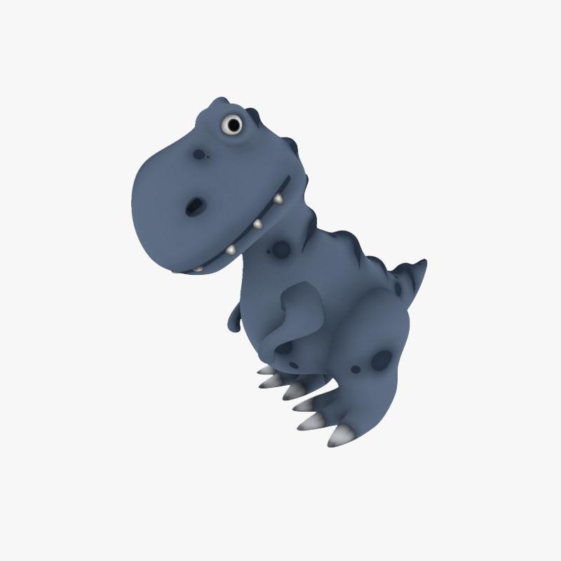 3d dino toy model