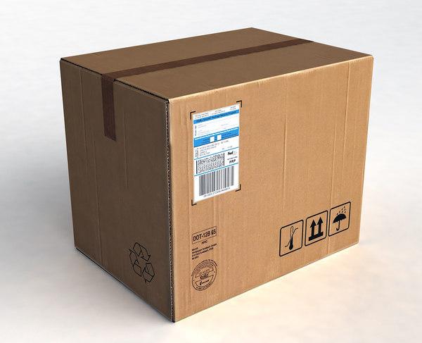 cardboard package box max free