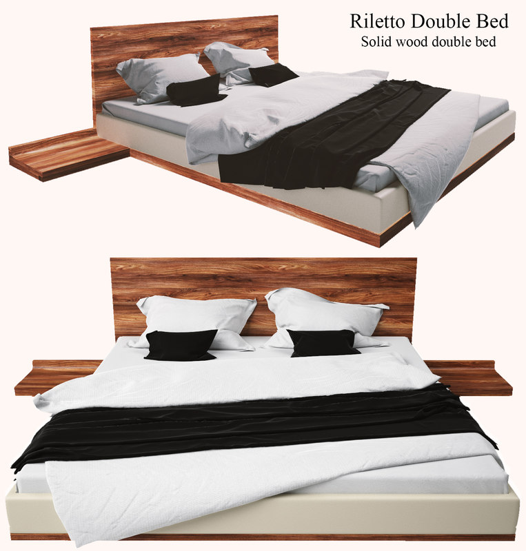 3d model riletto double bed