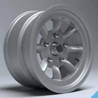 3d model mini lite racing wheel