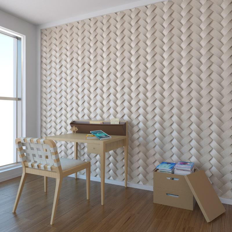 3d model wall pattern a01