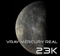 mercury real 23k 3d model