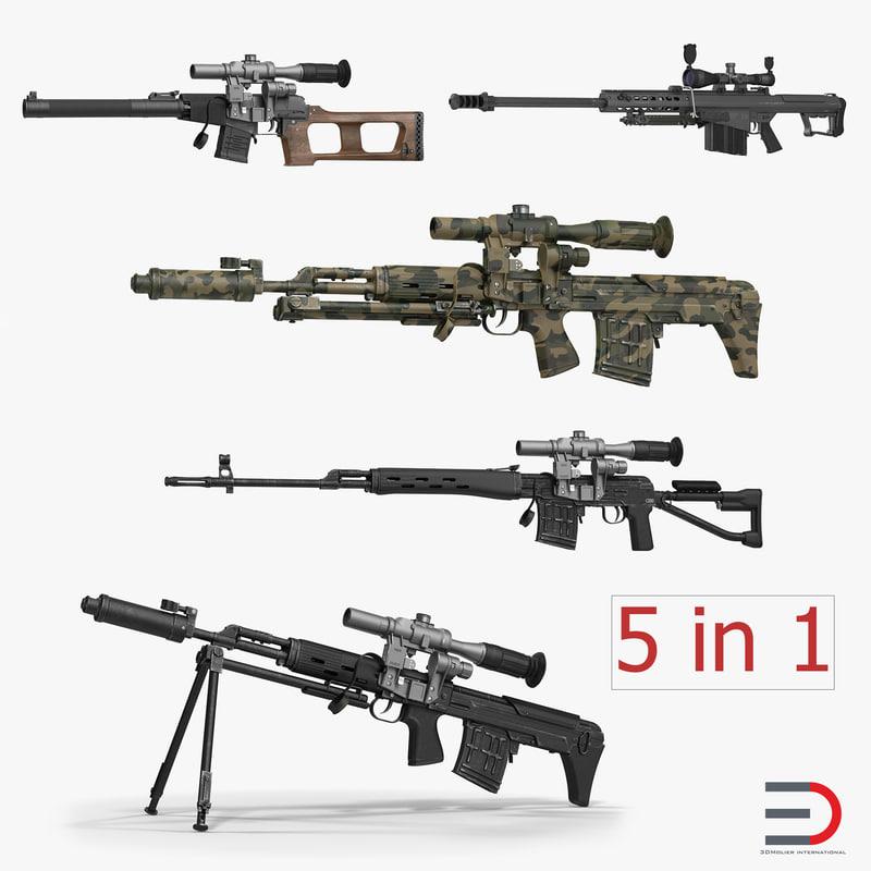 3d sniper rifles dragunov