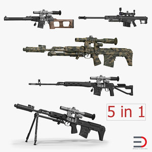 3d sniper rifles dragunov
