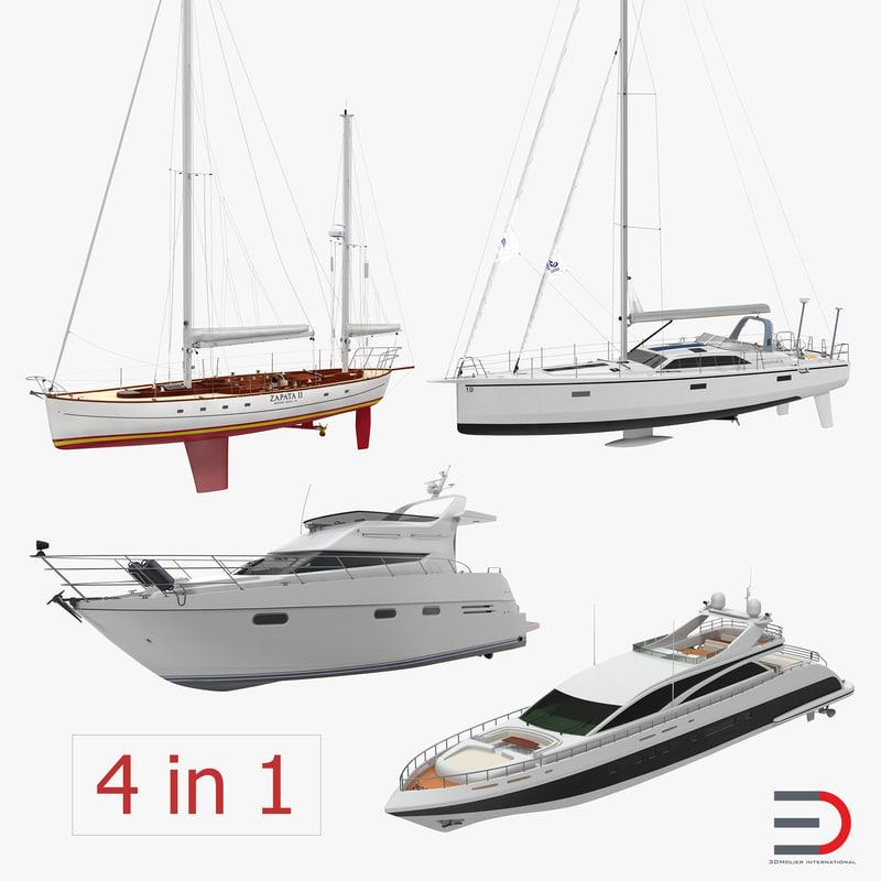 yachts 2 3d model