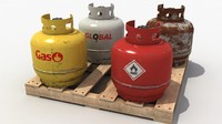 3d fuel cylinders tank