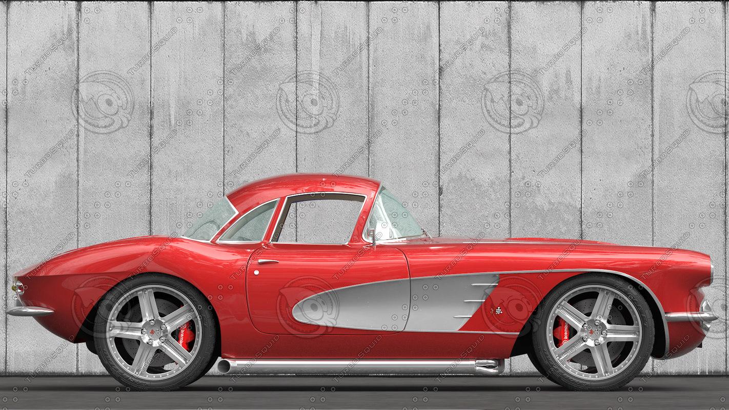 3d chevrolet corvette 1961 modified