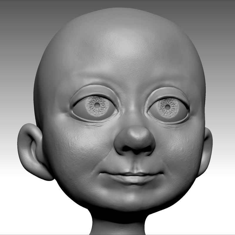 obj beauty cartoon boy head