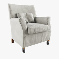 press armchair flexform 3d model