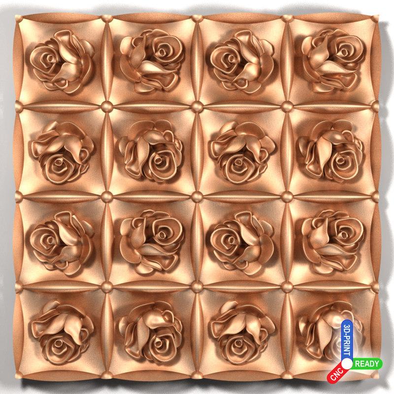 3d roses cnc printing