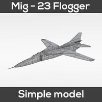 3d mig-23 flogger simple