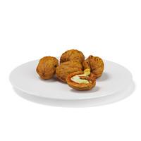 half walnuts white plate 3d max