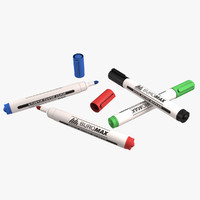 white board marker 3d model