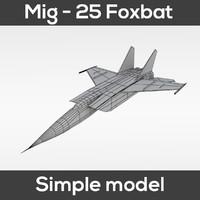 3d obj mig-25 foxbat simple