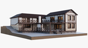 3d house relief model
