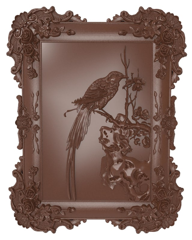 bas relief bird cnc 3d obj