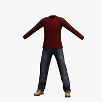 mens clothing 17 3d model