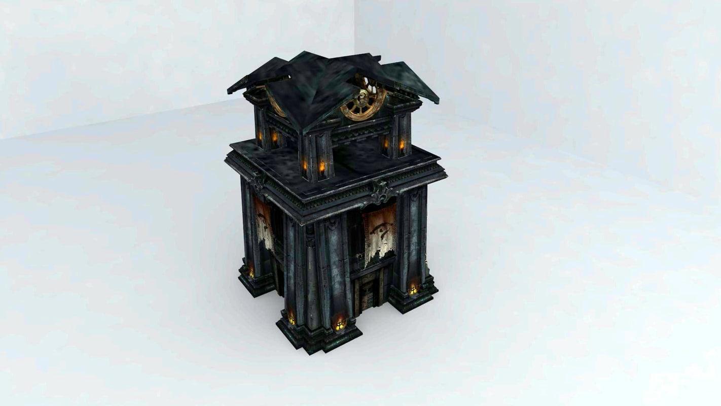 3d 3ds tower ancient civilization