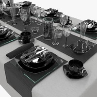 table setting luminarc quadrato 3d model