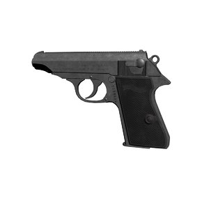 walther pp pistol 3d max