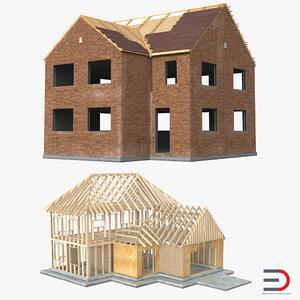 private house construction 2 c4d
