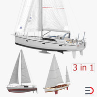 sailing yachts 3d model