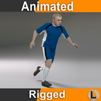 soccer player animations 3d max