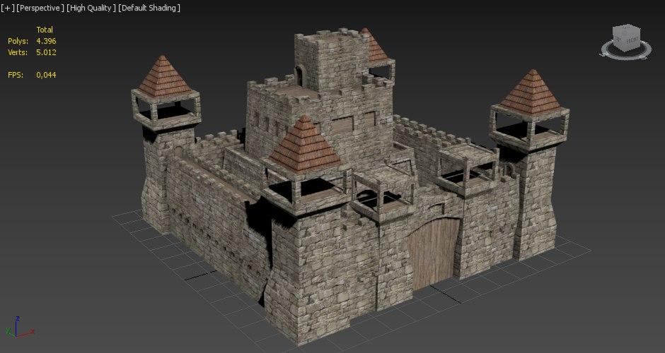 3d castle unity3d model