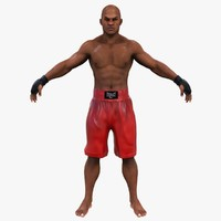 3d angry boxer fighter 2 model