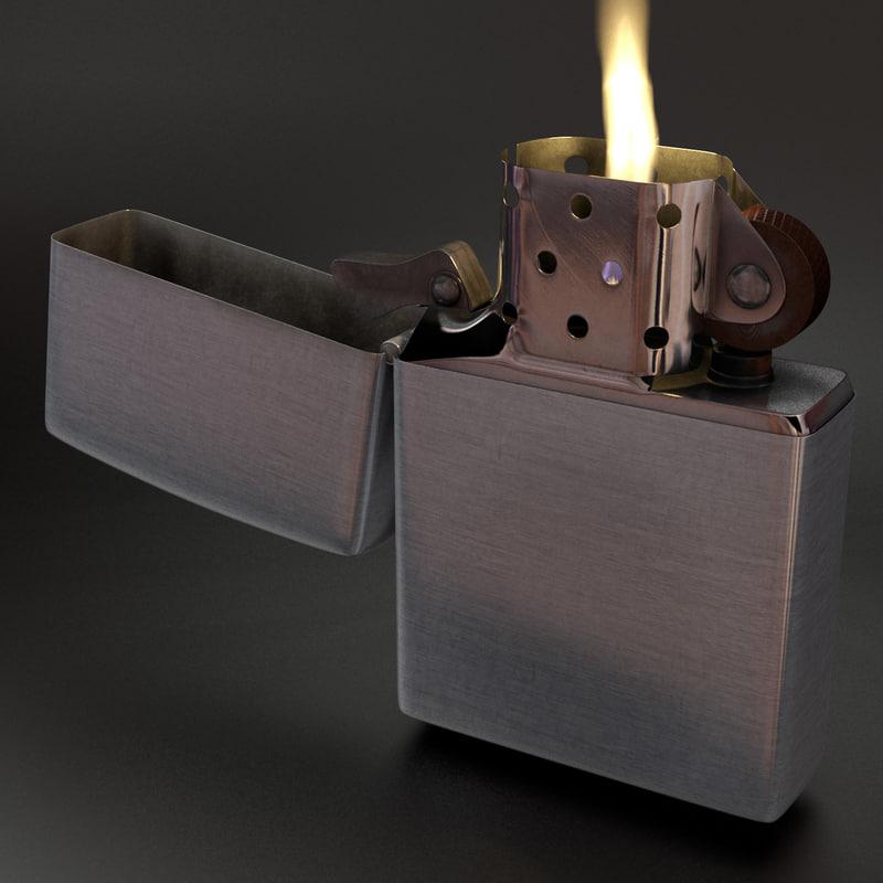 zippo lighter light 3d model