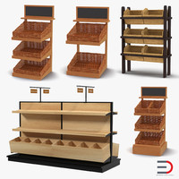 3d bakery display shelves