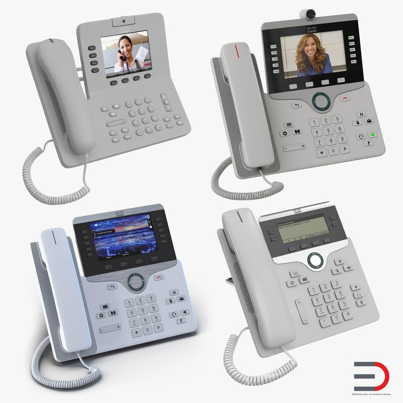3d model cisco ip phones 5