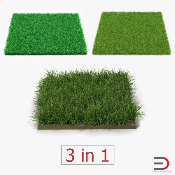 3d grass fields 2 model